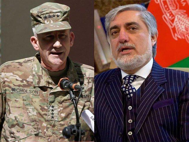 امریکا افغانستان کی حکومت اور افغان عوام کا متبادل ثابت نہیں ہوسکتا، جنرل جان نکلسن ( فوٹو: فائل)